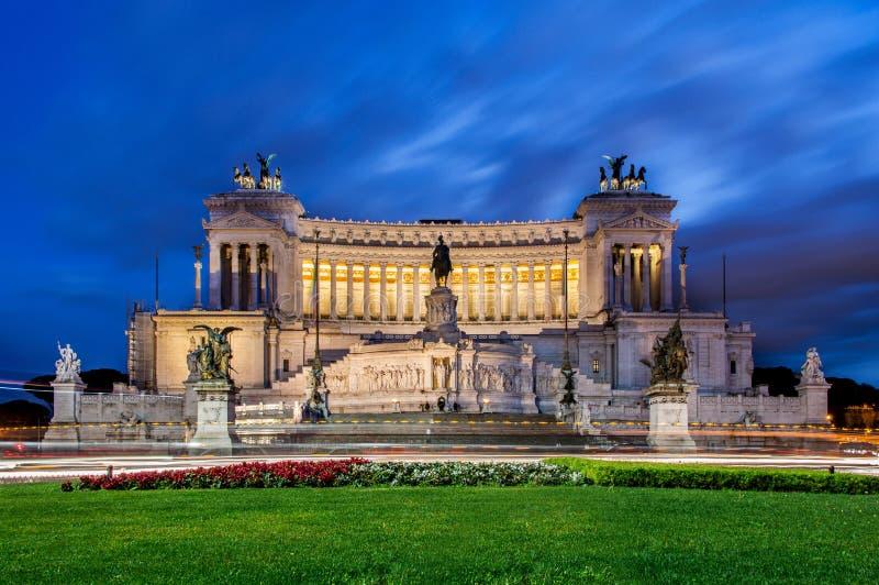 Monument von Victor Emmanuel stockfoto
