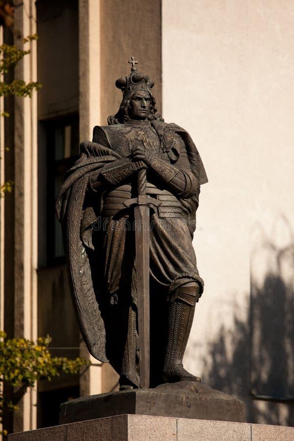 Monument von Vytautas das große stockbilder