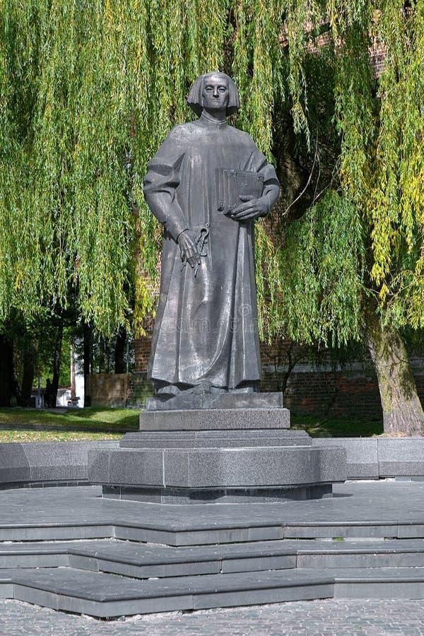 Monument von Yuriy Drohobych in Drohobych, Lemberg Oblast, Ukraine lizenzfreies stockbild