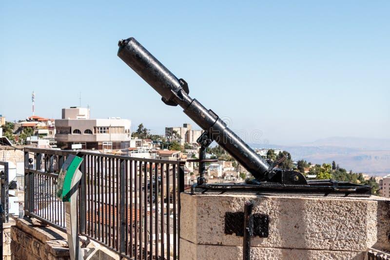 Monument voor Davidka, een legendarisch eigengemaakt mortier dat in Th wordt gebruikt royalty-vrije stock foto's
