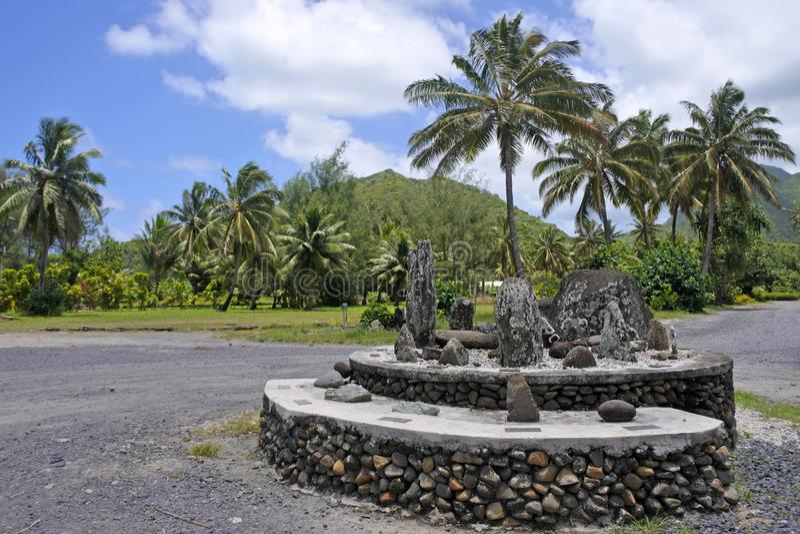 Monument voor de grote vloot van zeven kano's Rarotonga Cook Isla stock fotografie