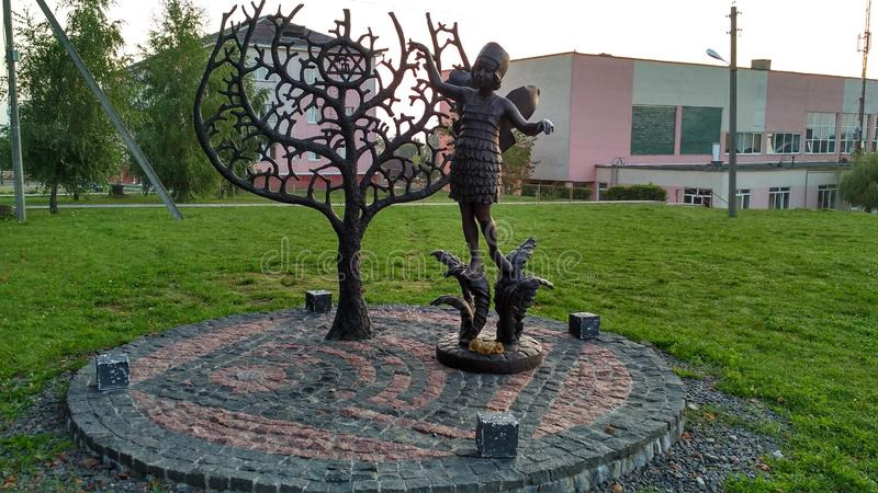 Monument voor de joden in de oorlogsslachtoffers & x28; stad Novogrudok Belarus en x29; stock foto
