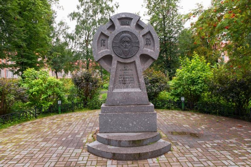 Monument voor het geloof van Christus aan de slachtoffers stock afbeelding