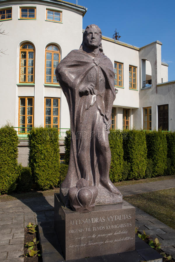 Monument of Vytautas, the Great Duke of Lithuania stock photo
