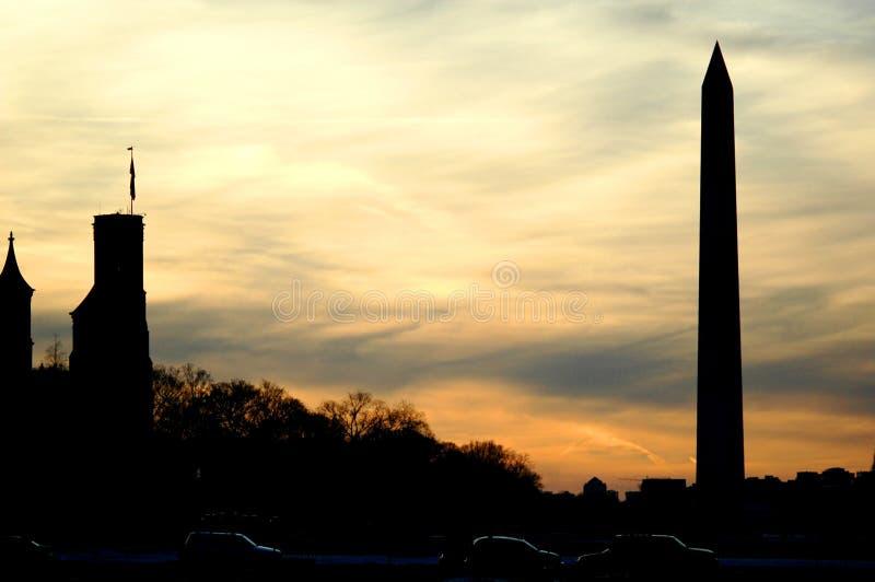 Download Monument washington arkivfoto. Bild av solnedgång, liggande - 514164