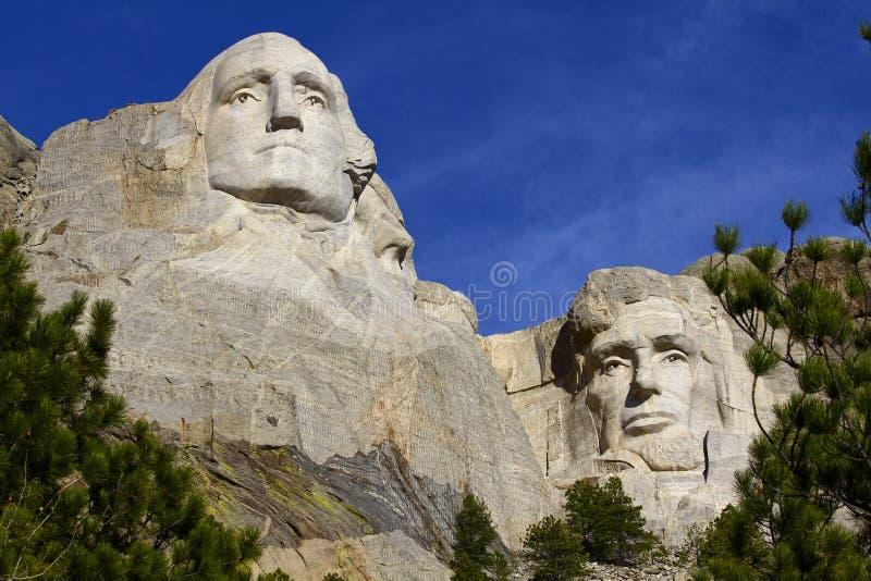 Monument, Washington et Lincoln du mont Rushmore photo libre de droits