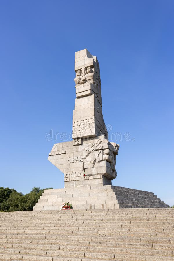 Monument at Westerplatte in Gdansk stock image