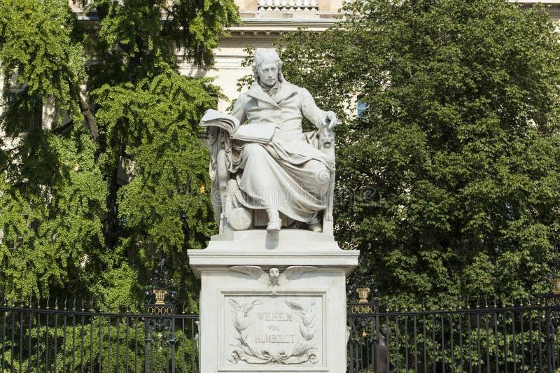 Monument Wilhelm Humboldt Berlin stock image