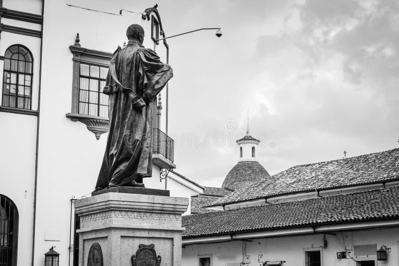 Monument in witte stad popayan Colombia Zuid-Amerika royalty-vrije stock afbeeldingen