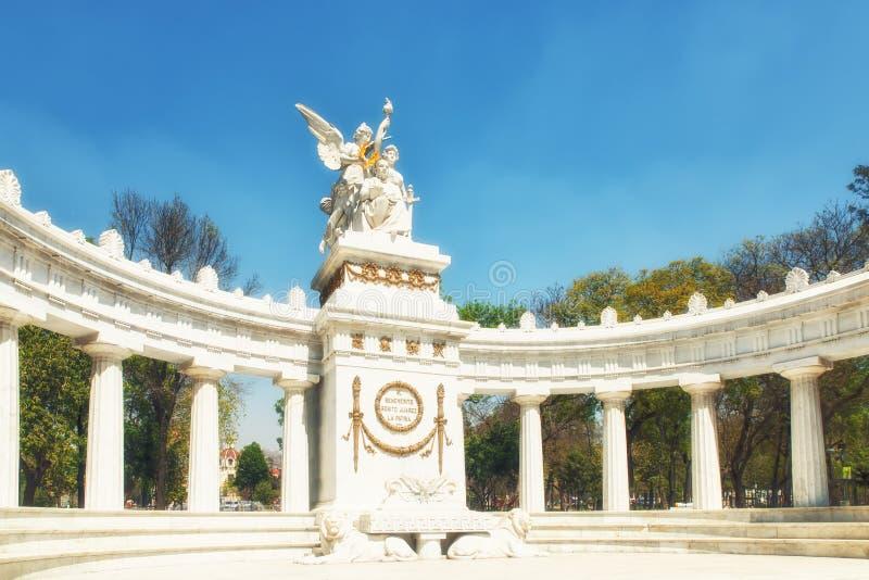 Monument zu ¡ Benito Juà rez in Mexiko City lizenzfreies stockfoto