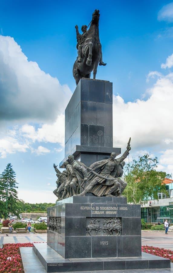 Monument zu den Befreiern von Nis lizenzfreie stockbilder