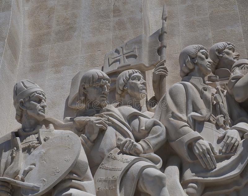 Monument zu den Entdeckungen in Libon in Portugal stockbilder