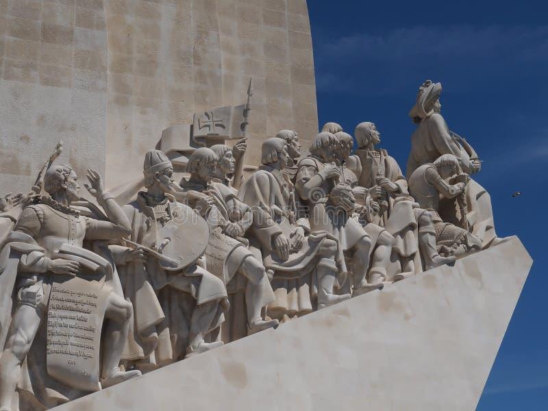 Monument zu den Entdeckungen in Lissabon in Portugal lizenzfreies stockfoto