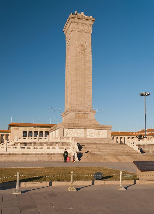 Monument zu den Helden der Leute auf Tiananmen-Platz. Peking. Ch lizenzfreie stockfotos