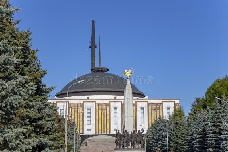 Monument zu den L?ndern von Antihitler-Koalition, Gassen-Anh?nger in Victory Park auf Poklonnaya-H?gel, Moskau, Russland lizenzfreies stockfoto