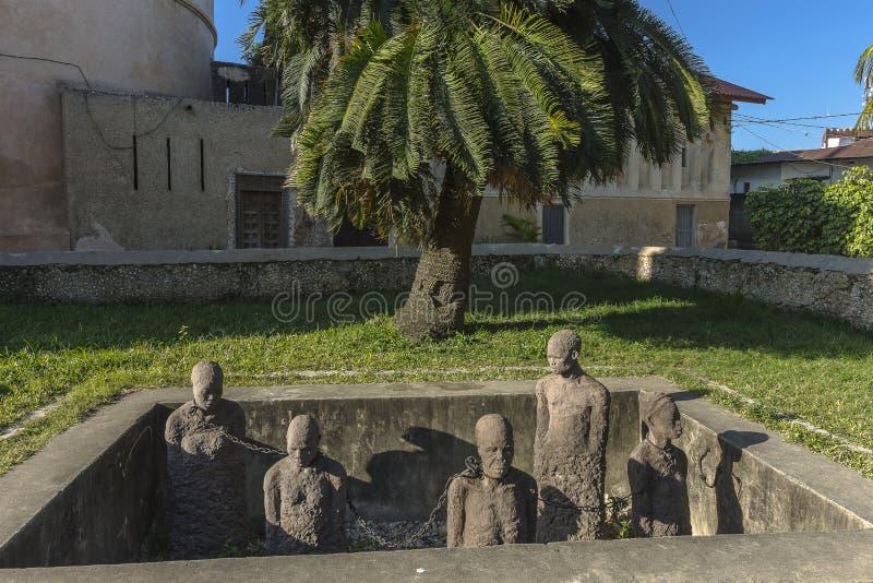Monument zu den Sklaven in Sansibar lizenzfreie stockfotos
