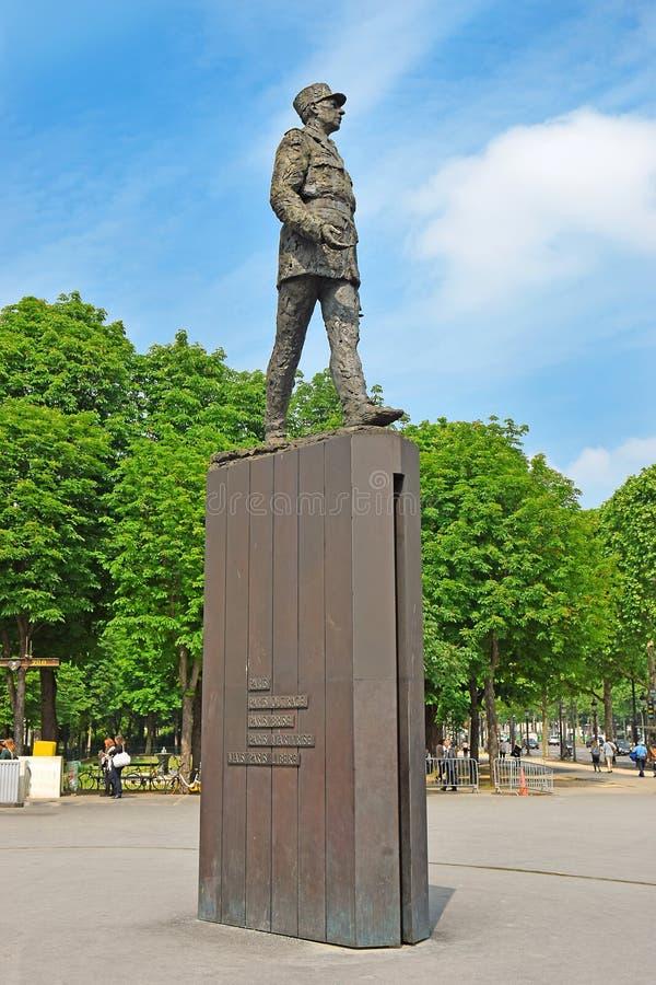 Monument zu französischem General Charles de Gaulle auf dem Alleen-DES Champs-Elysees in Paris stockbilder