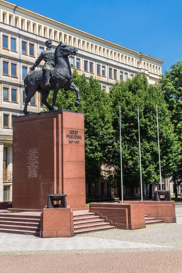 Monument zu Jozef Pilsudski lizenzfreie stockfotografie