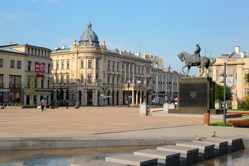 Monument zu Jozef Pilsudski in Lublin, Polen stockfoto