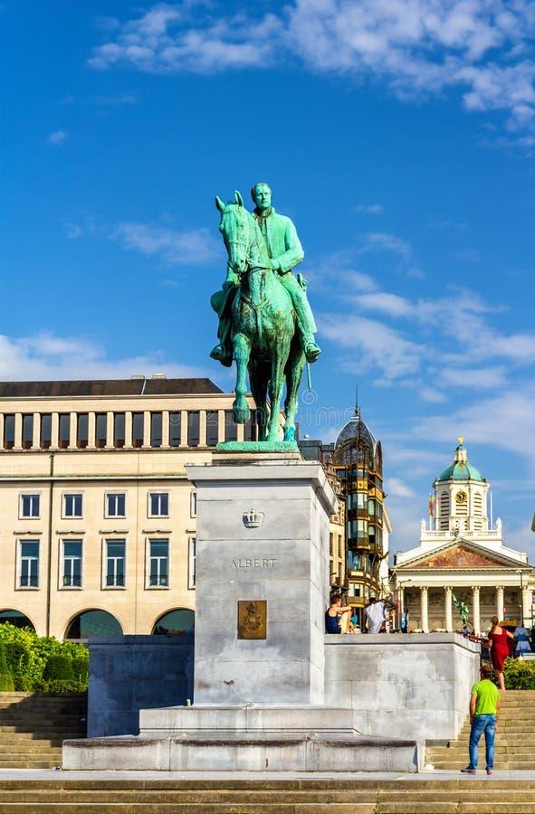 Monument zu König Albert I in Brüssel lizenzfreie stockfotos