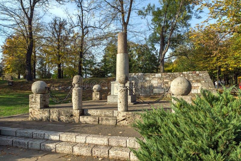 Monument zu Kniaz Mailand in der Festung der Stadt von Nis, Serbien lizenzfreie stockbilder
