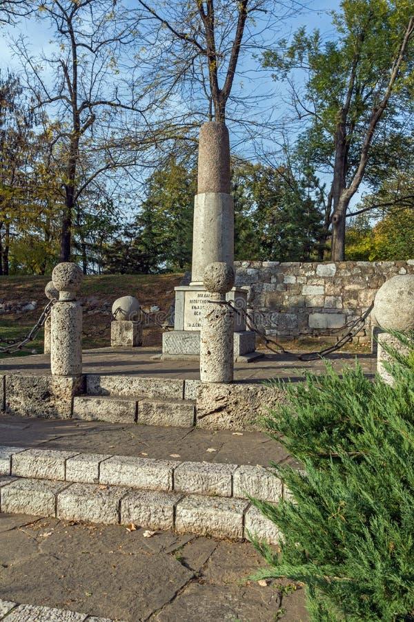 Monument zu Kniaz Mailand in der Festung der Stadt von Nis, Serbien stockfotografie