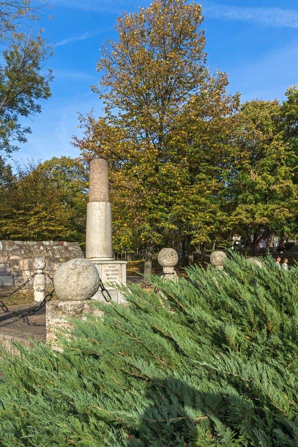 Monument zu Kniaz Mailand in der Festung der Stadt von Nis, Serbien stockbilder