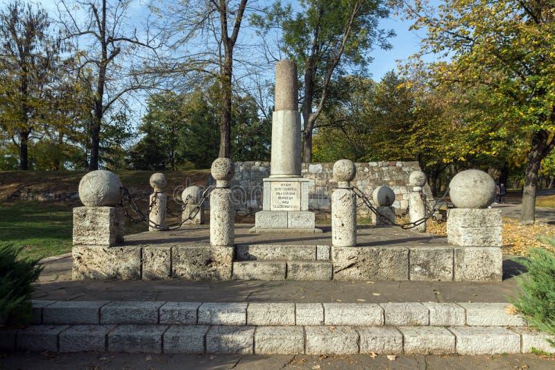 Monument zu Kniaz Mailand in der Festung der Stadt von Nis, Serbien stockfotos