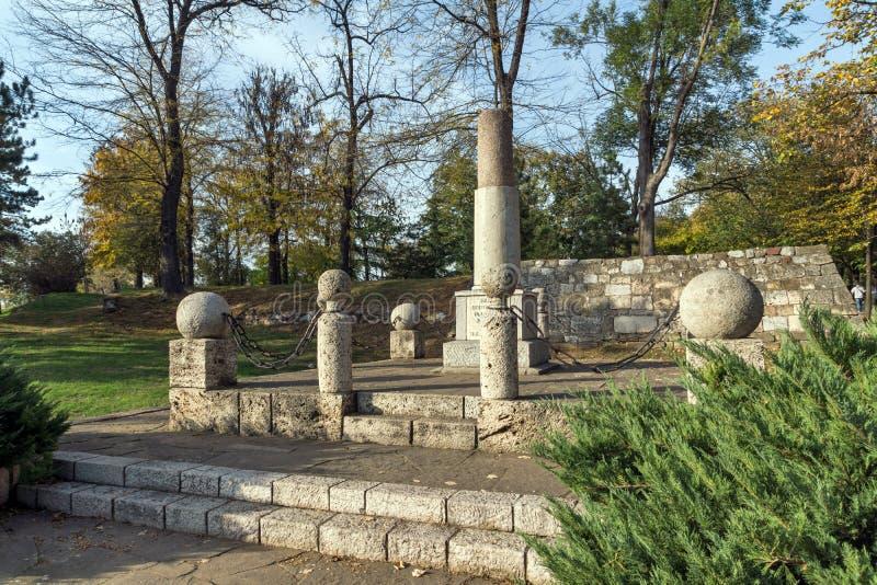 Monument zu Kniaz Mailand in der Festung der Stadt von Nis, Serbien lizenzfreie stockfotografie