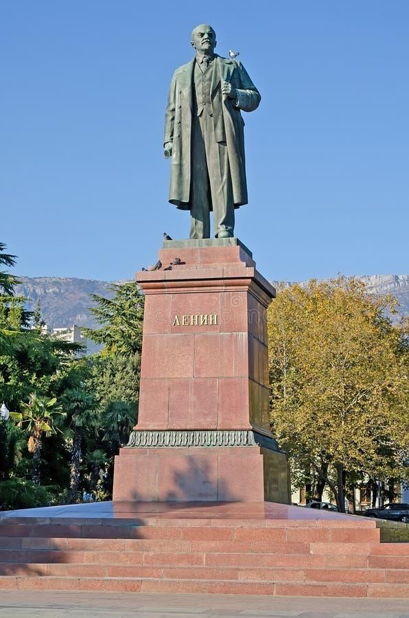 Monument zu Lenin in Jalta stockbild