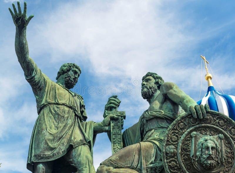 Monument zu Minin und zu Pozharsky stockbild