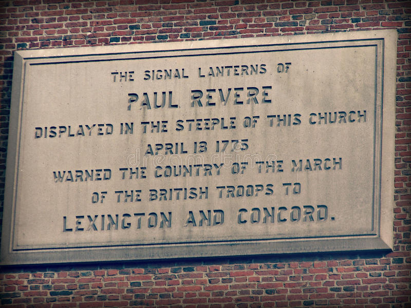 Monument zu Paul Revere in Boston, Massachusetts stockfotos
