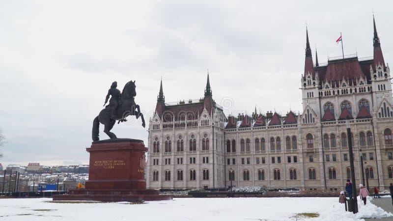 Monument zu Prinzen Ferenc II Rakoczi Budapest stockfotografie