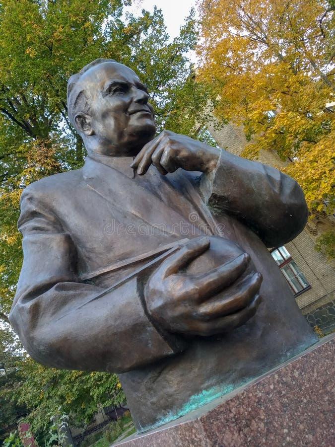 Monument zu Sergei Pavlovich Korolev stockbild