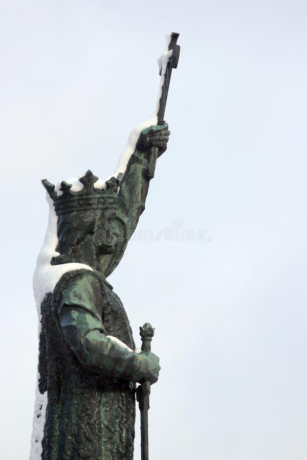 Monument zu Stute Stefan cel in Chisinau, Moldau stockbild