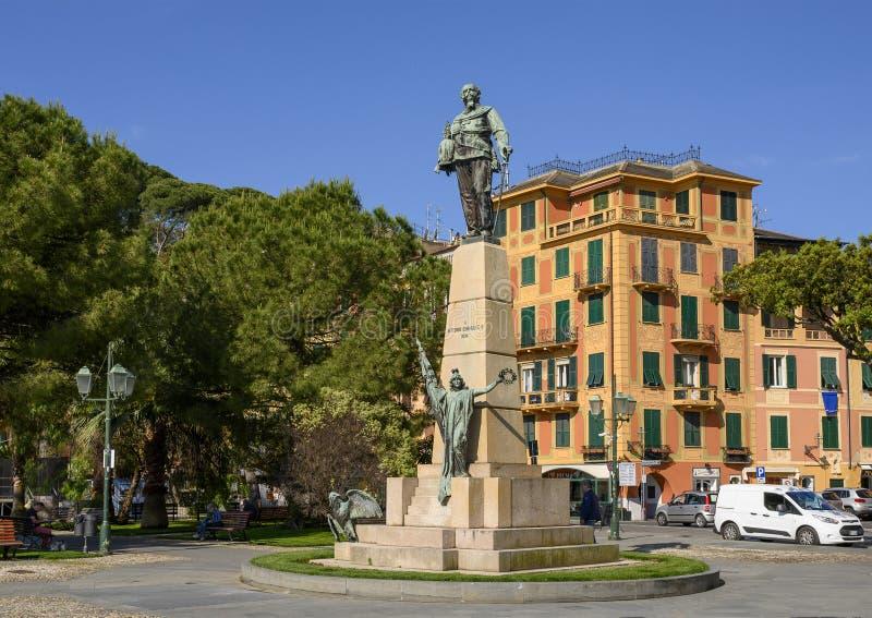 Monument zu Victor Emmanuel II in Santa Marherita Ligure, Italien lizenzfreie stockbilder