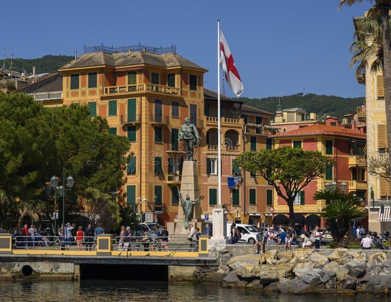 Monument zu Victor Emmanuel II in Santa Marherita Ligure, Italien lizenzfreies stockbild