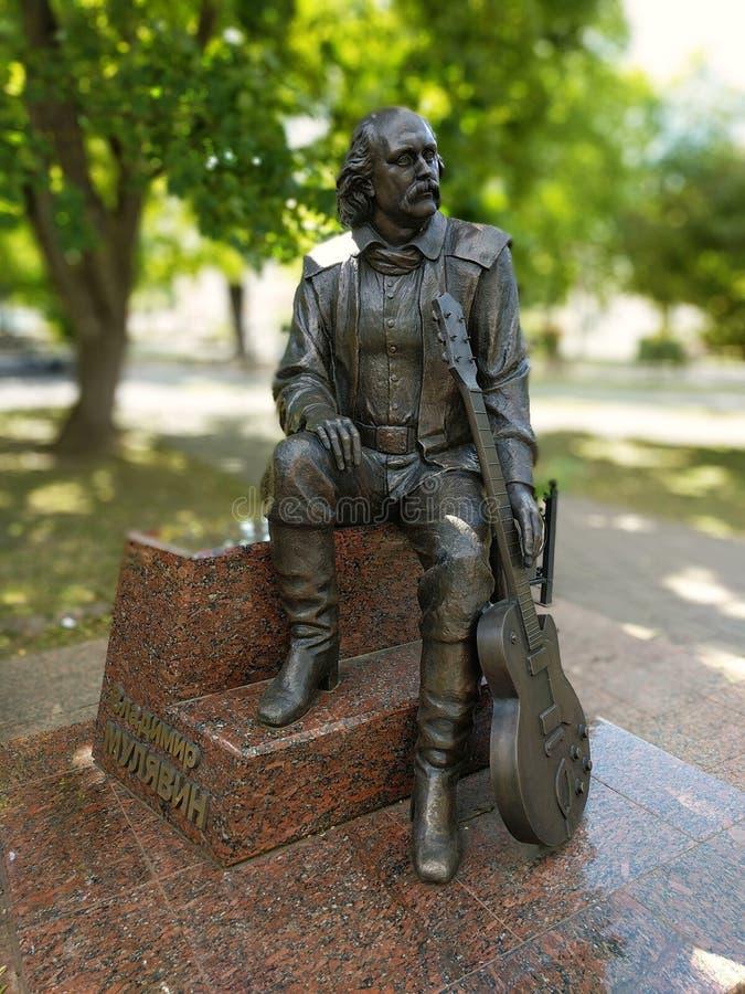 Monument zu Vladimir Mulyavin in Minsk lizenzfreie stockfotografie