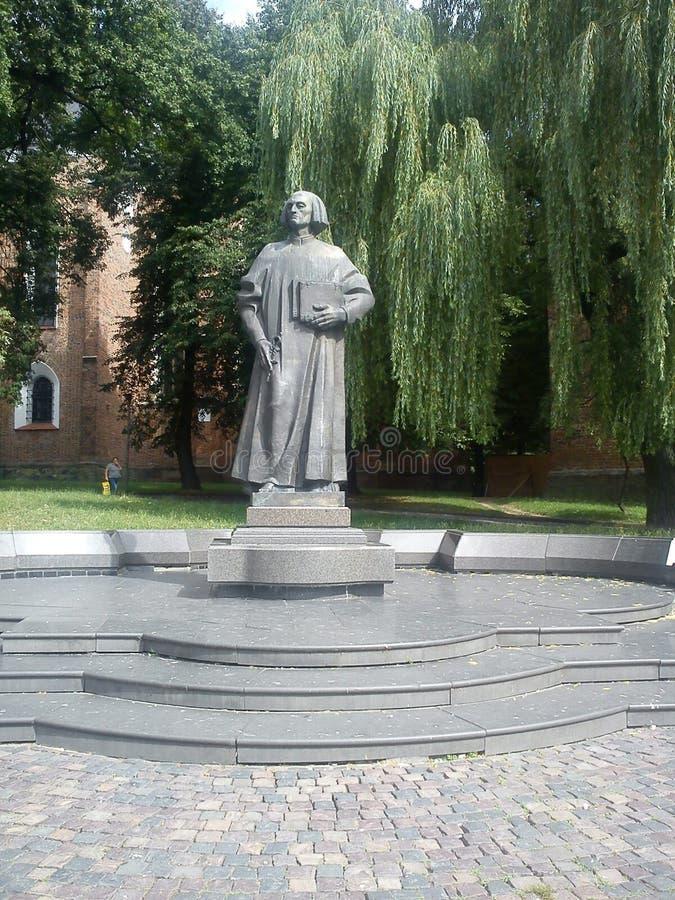 Monument zu Yuri Drohobych in der Stadt von Drogobych stockfotos