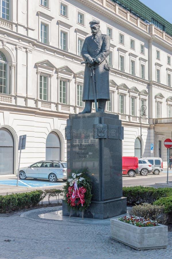 Monument zum ersten Marschall von Polen Jozef Klemens Pilsudski lizenzfreies stockfoto