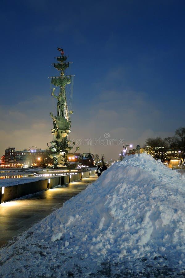 Monument zum Gedenken an den 300. Jahrestag der russischen Marine lizenzfreie stockbilder