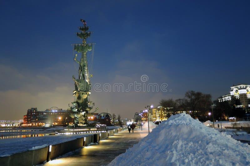 Monument zum Gedenken an den 300. Jahrestag der russischen Marine stockfoto