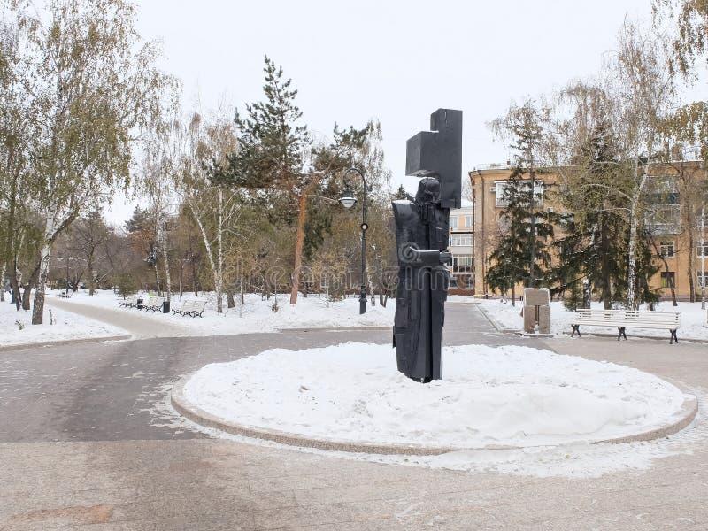 Monument zum großen russischen Verfasser Fyodor Dostoevsky lizenzfreies stockfoto