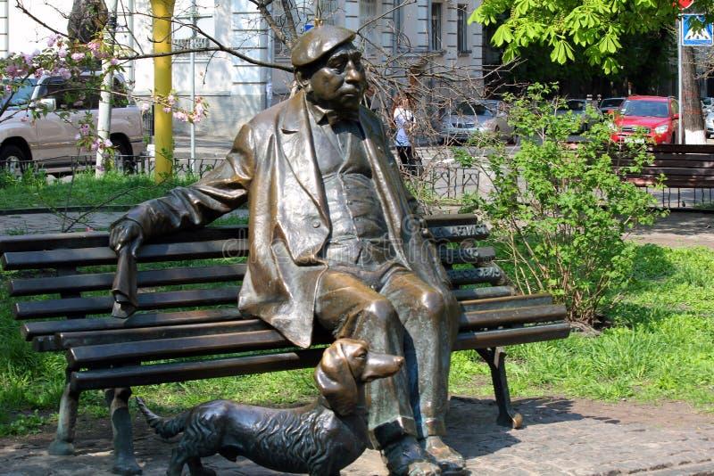 Monument zum Künstler Nikolai Yakovenko in Kiew stockbilder