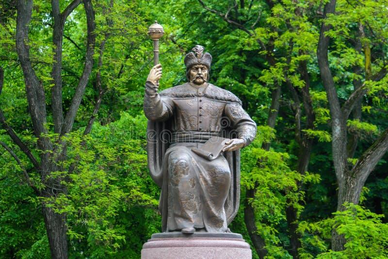 Monument zum Kosakenhetman des Hetmanate in der Link-Bank Ukraine Ivan Mazepa lizenzfreie stockbilder