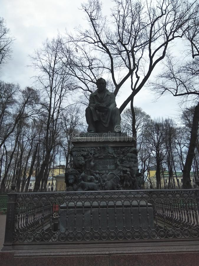Monument zum krylov lizenzfreies stockbild