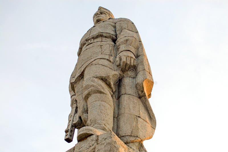 Monument zum russischen Soldaten Alyosha in Plowdiw, Bulgarien lizenzfreie stockfotos