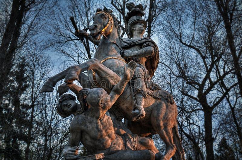 Monument zum Warschau-Polnischkönig Jan III Sobieski lizenzfreie stockfotografie
