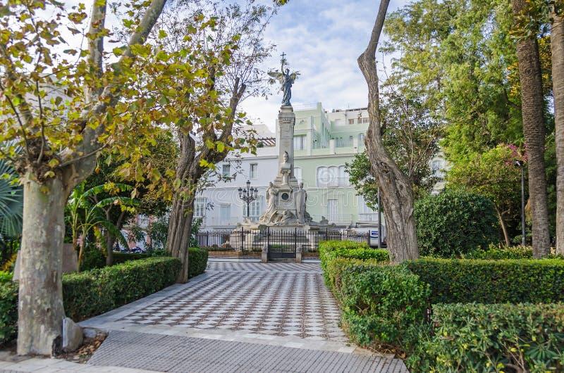 Monument zur Marquise von Comillas im publ Alamedas Apodaca lizenzfreie stockfotografie