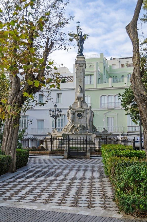 Monument zur Marquise von Comillas im publ Alamedas Apodaca stockfotografie